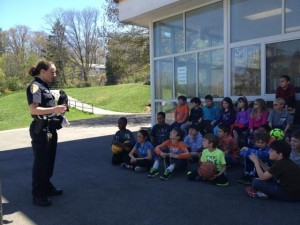 Bike Safety with Bedford Police on 5-1-13
