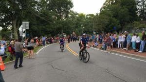 Bike patrol officers in the Katonah Fire Parade - 2015